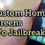 Cómo personalizar la pantalla de inicio del iPhone sin Jailbreak