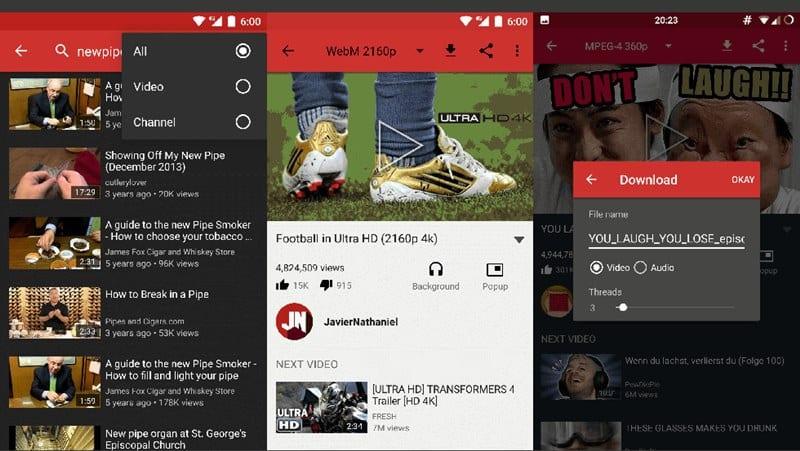 4 de las mejores aplicaciones de terceros en YouTube para Android que deberías probar