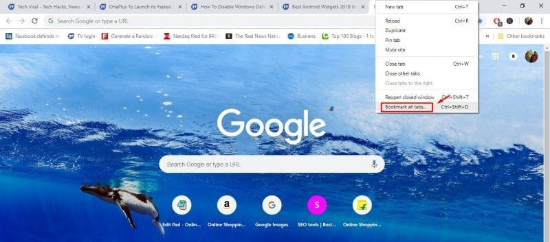 Cómo ocultar y guardar rápidamente las pestañas en Google Chrome