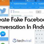 Cómo crear una falsa conversación en Facebook en Android