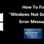 """Cómo corregir el mensaje de error """"Windows no es genuino"""" (3 métodos)"""