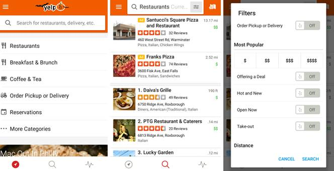 5 útiles aplicaciones para Android para cuando no puedas decidir dónde comer