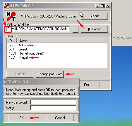 Cómo recuperar o reiniciar Windows 7 Contraseña olvidada con el CD de arranque de Hiren