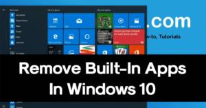 Cómo desinstalar las aplicaciones integradas de Windows 10