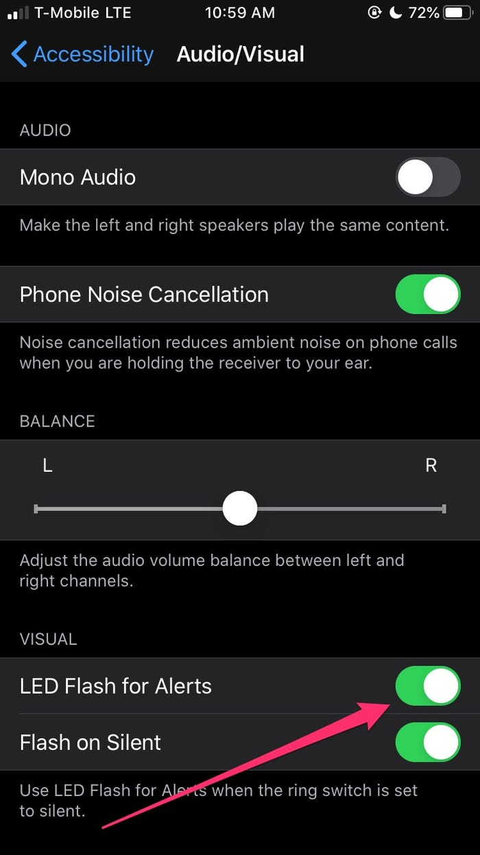 Cómo encender el flash LED para alertas en el iPhone
