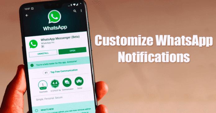 Cómo personalizar las notificaciones de WhatsApp 2020