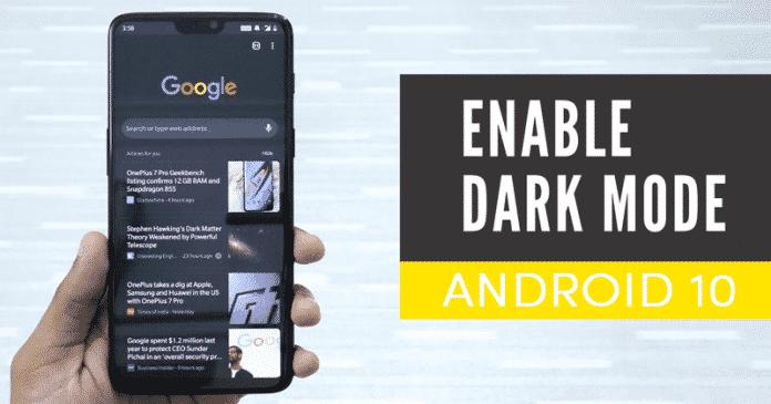 Cómo activar el modo oscuro en Android 10