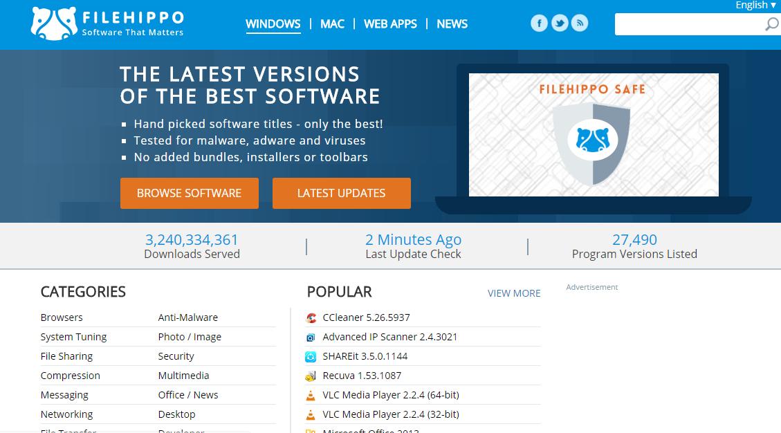 10 mejores sitios web para descargar el software de Windows 2020
