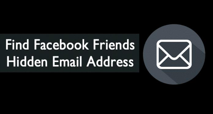 Cómo encontrar amigos en Facebook Dirección de correo electrónico oculta