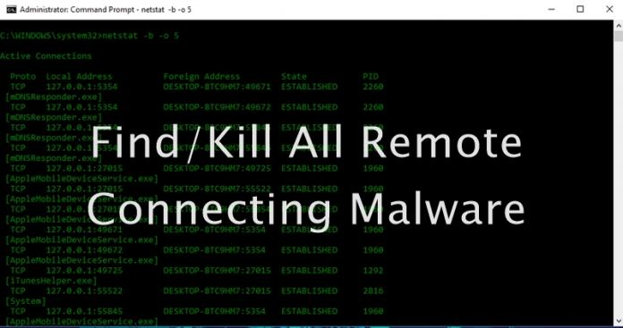 Cómo encontrar y eliminar todo el malware de conexión remota en Windows 10