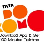 Tata Docomo 100 minutos de tiempo de conversación T2T gratis (sólo para usuarios de la India)