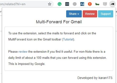 Cómo reenviar varios correos electrónicos en Gmail con Google Chrome