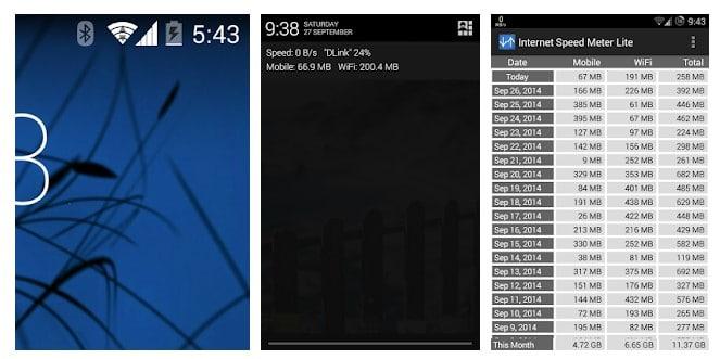 Cómo mostrar la velocidad de Internet en la barra de estado en los teléfonos Samsung
