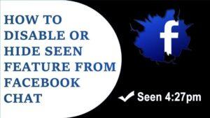 Cómo ocultar mi última vista en el chat de Facebook 2019