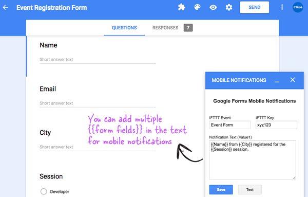 Cómo recibir notificaciones de formularios de Google en el teléfono móvil