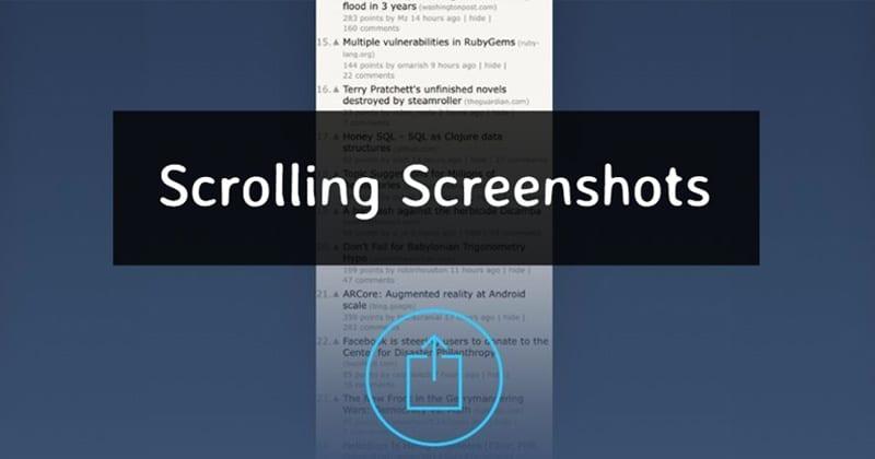 Cómo hacer una captura de pantalla de largo recorrido en cualquier Android