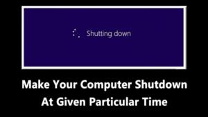 Cómo hacer que su ordenador se apague en un momento determinado