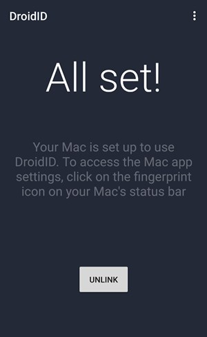 Cómo desbloquear el MAC con la huella dactilar de un dispositivo Android