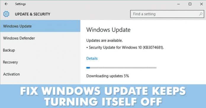 Esto es lo que hay que hacer si Windows Update sigue apagándose
