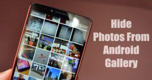Cómo evitar que ciertas fotos aparezcan en la galería de Android