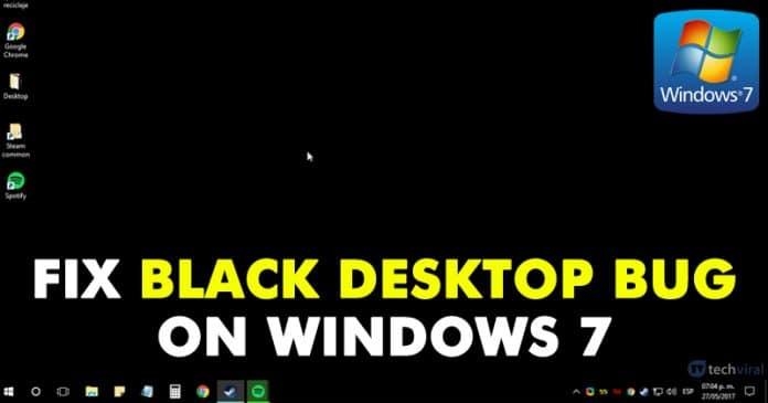 Cómo solucionar un error de escritorio negro en un equipo con Windows 7