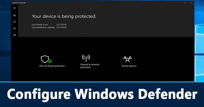 Cómo configurar Windows Defender para protegerse mejor