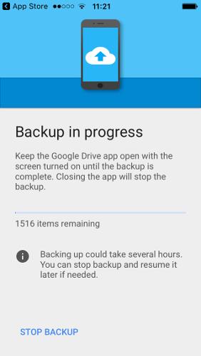 Cómo cambiar de iOS a Android usando Google Drive