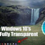 Cómo hacer que la barra de tareas de Windows 10 sea totalmente transparente