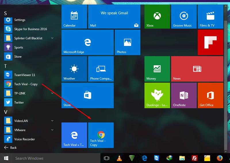 Cómo agregar enlaces de sitios web al menú de inicio de Windows 10