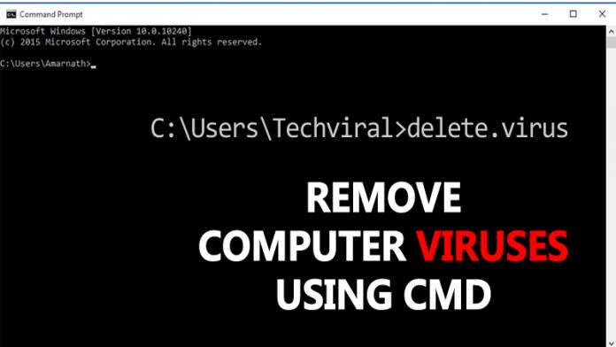Cómo eliminar los virus informáticos usando CMD