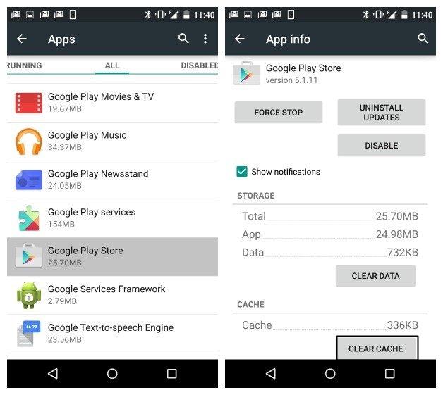 """Cómo arreglar """"Error de descarga de espacio insuficiente"""" En Android"""