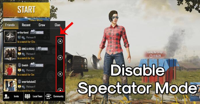 Cómo desactivar el modo espectador en PUBG Mobile