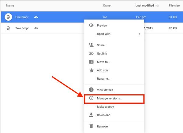 Cómo actualizar el archivo en el disco de Google sin cambiar el enlace