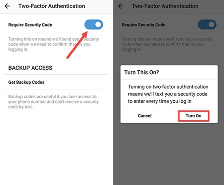 Cómo habilitar la autenticación de dos factores para Instagram en Android
