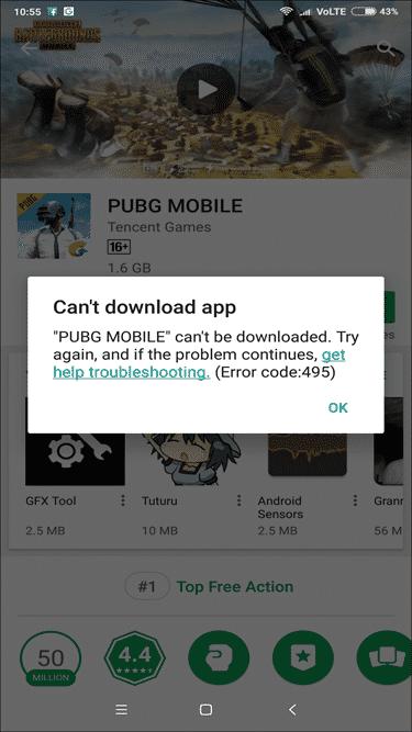 Cómo solucionar el error 495 de Google Play Store (6 métodos)