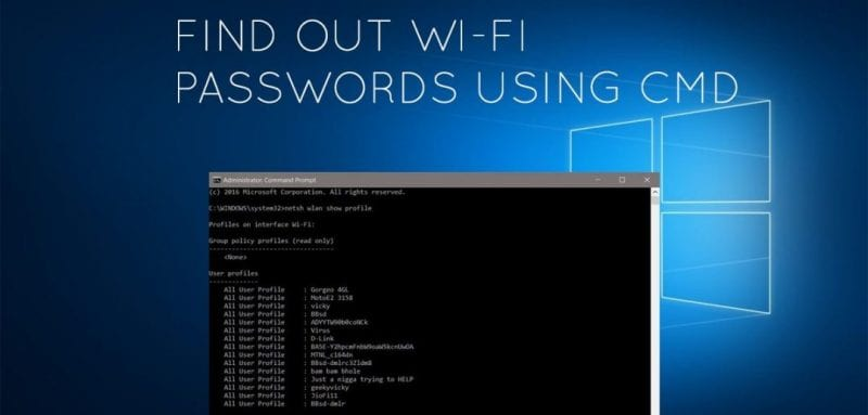 Cómo encontrar la contraseña de Wi-Fi de su red actual usando CMD
