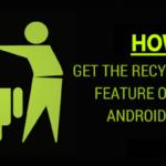 Cómo añadir la función de la papelera de reciclaje en Android