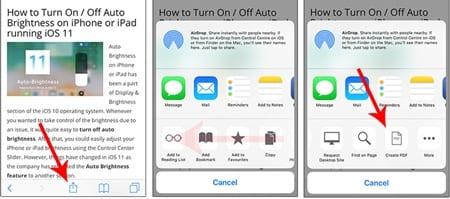 Cómo guardar páginas web en formato PDF en iOS 11