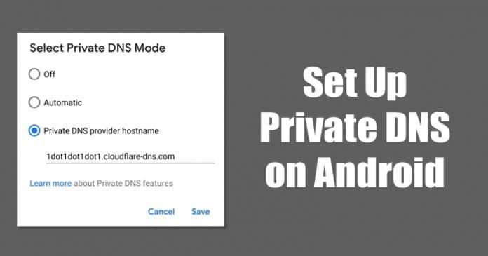 Así es como se configura el DNS privado en Android