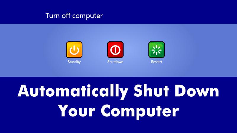 Cómo apagar automáticamente su ordenador a una hora determinada