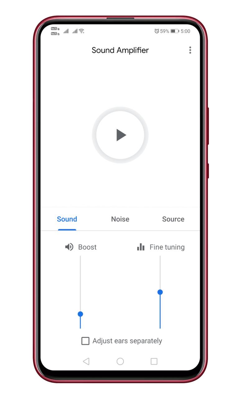 Cómo utilizar la aplicación de amplificación de sonido de Google en Android