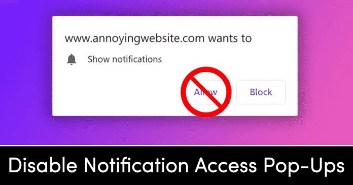 Cómo impedir que los sitios web soliciten acceso a las notificaciones