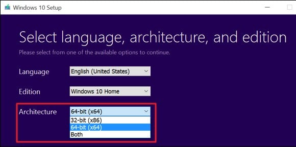 Cómo cambiar de 32 bits a 64 bits en Windows 10