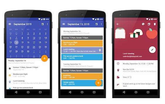 Las 20 mejores aplicaciones de calendario para Android 2020