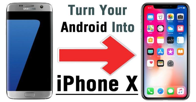 A continuación te explicamos cómo convertir tu teléfono Android en un iPhone X!