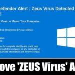 Cómo eliminar las alertas de Virus ZEUS detectado por Windows.