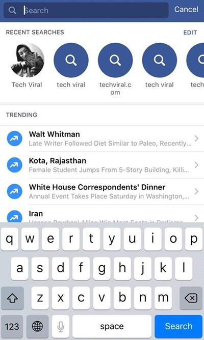 Cómo borrar todo lo que buscas en Facebook en la Web y en la aplicación