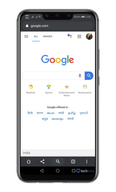 Cómo activar el nuevo menú de dúo del navegador Chrome en Android