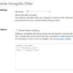¿Cómo se cierran automáticamente las pestañas de incógnito en Google Chrome?