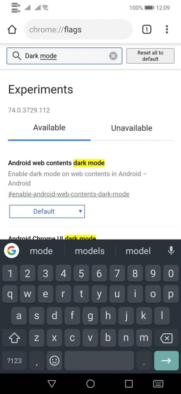 Cómo activar el modo oscuro oculto en Chrome para Android